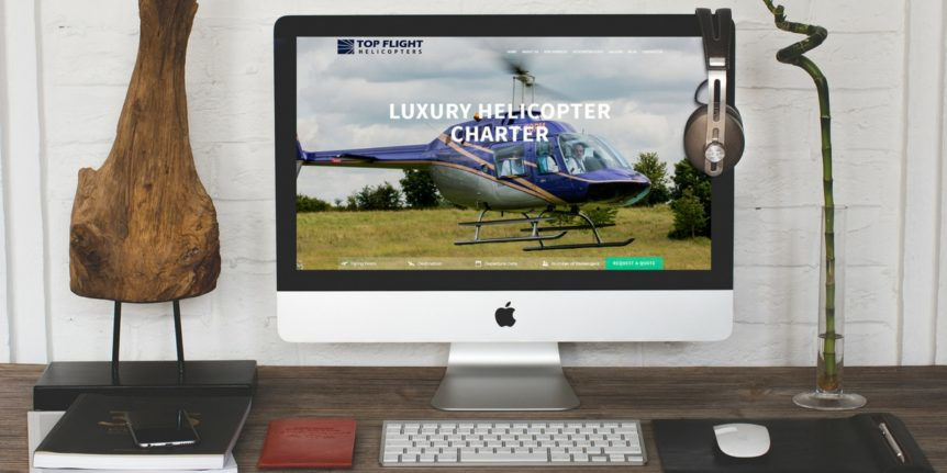 Portfolio Top Flight Helicopters Web Design and Digital Marketing